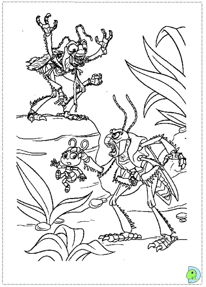 a bugs life coloring book pages - photo #48