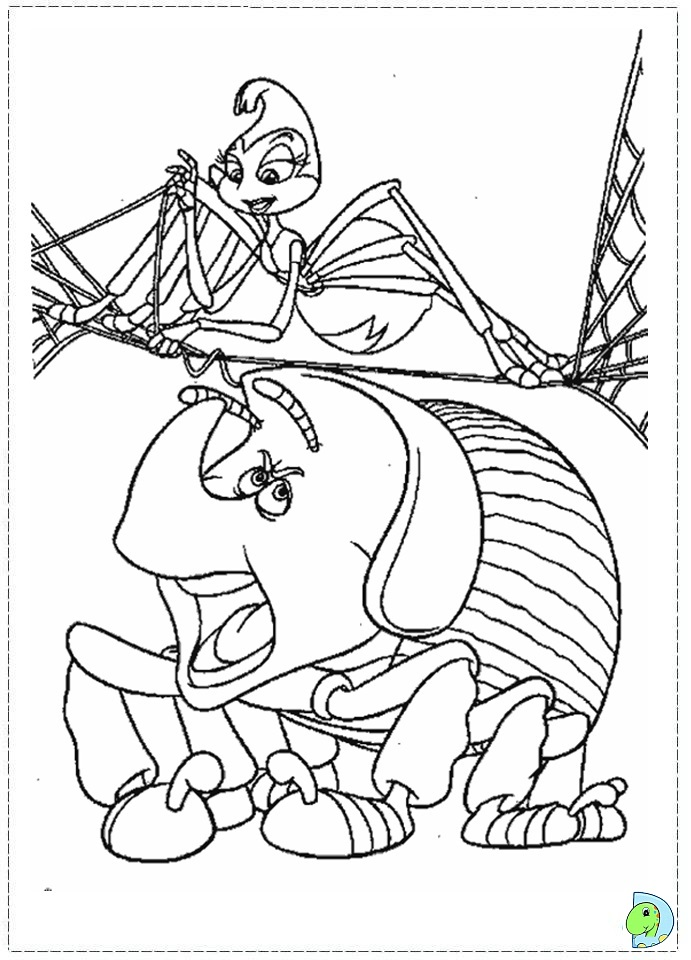 a bugs life coloring book pages - photo #36