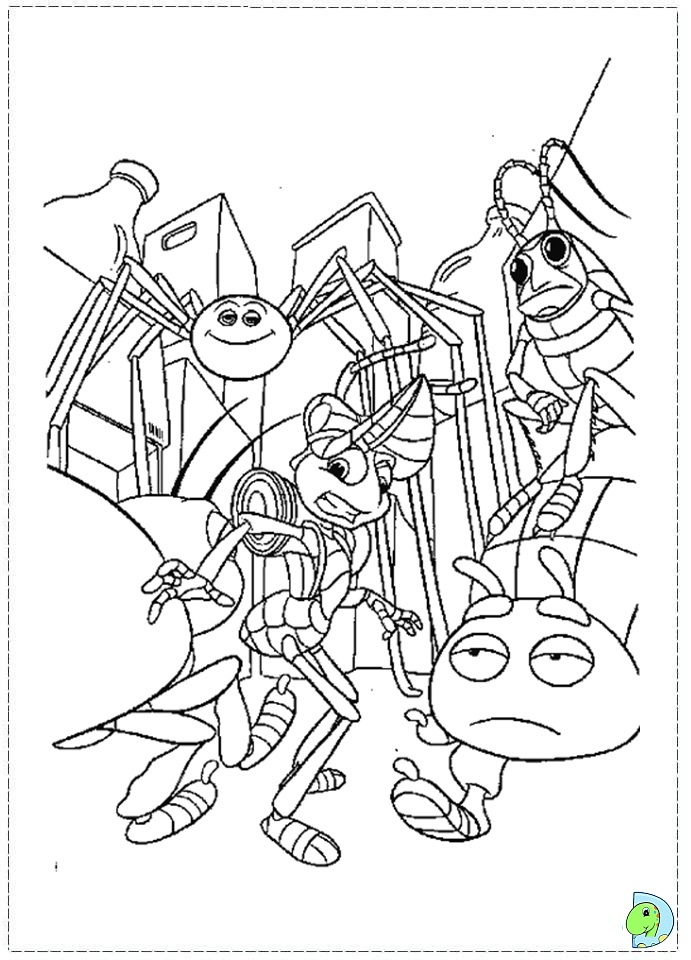 A bug 39 s life coloring page for Bugs life coloring pages