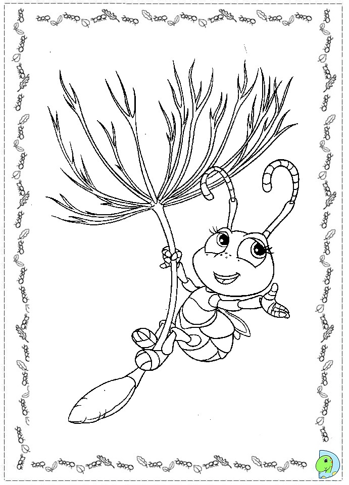 a bugs life coloring book pages - photo #23