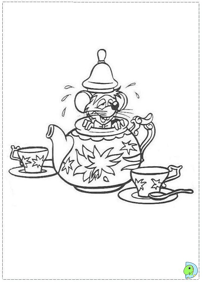 The gallery for mad hatter hat coloring page for Disney alice in wonderland coloring pages