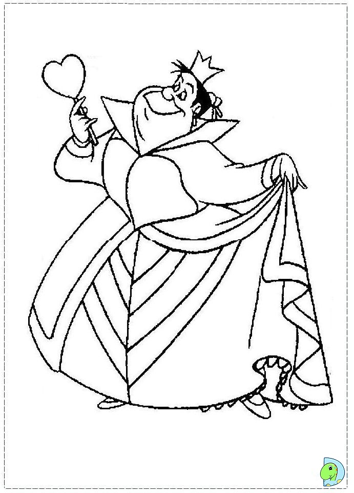 alice in wonderland coloring page dinokids org