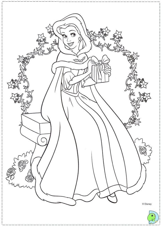The Beauty And The Beast Coloring Page DinoKidsorg