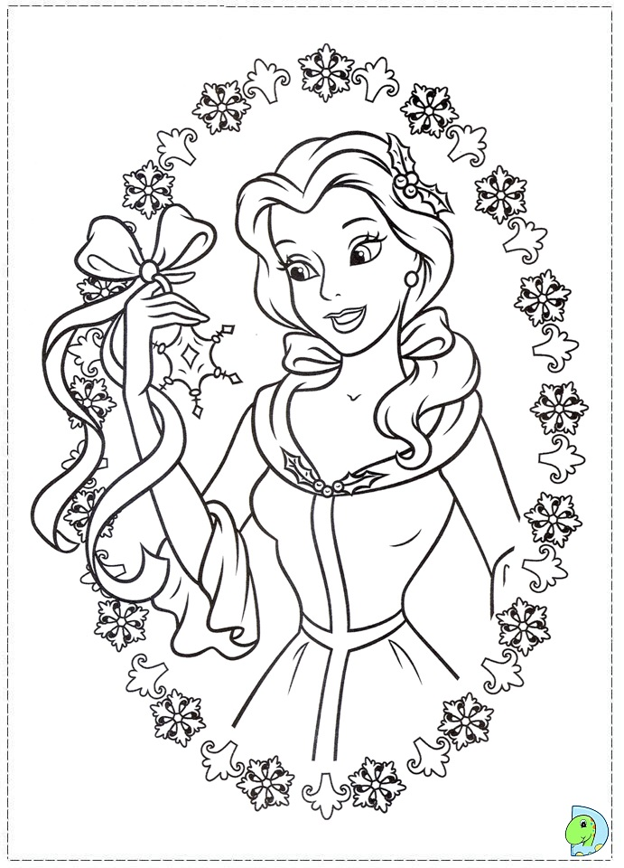 Free Printable Christmas Princess Coloring Pages : Free coloring pages of disney princess christmas