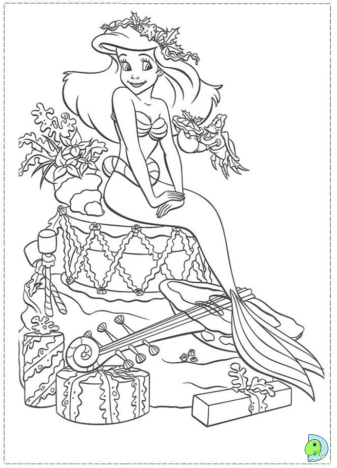 Christmas Disney Princess Coloring Page DinoKidsorg