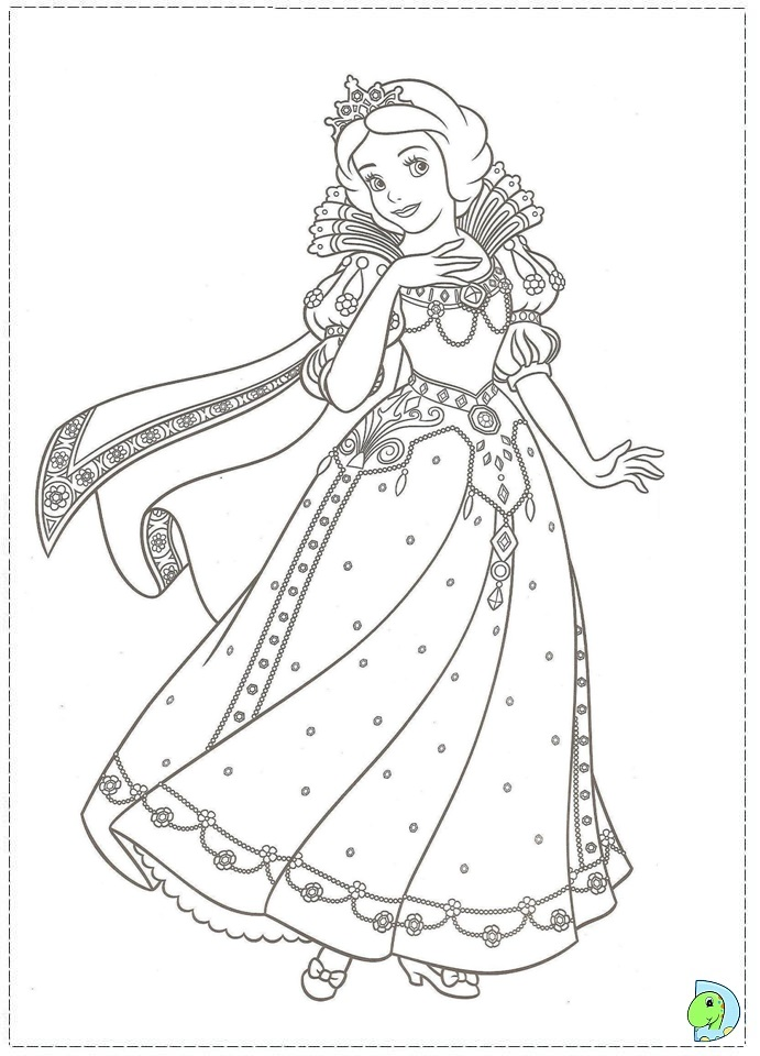disney princess christmas coloring pages - photo#14