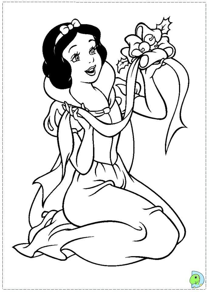 Christmas Disney Princess Coloring Page DinoKidsorg