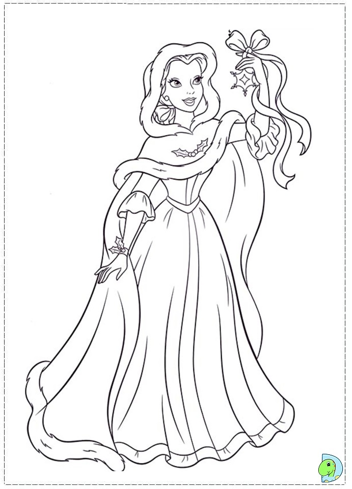 Free Coloring Pages Of Christmas Princess