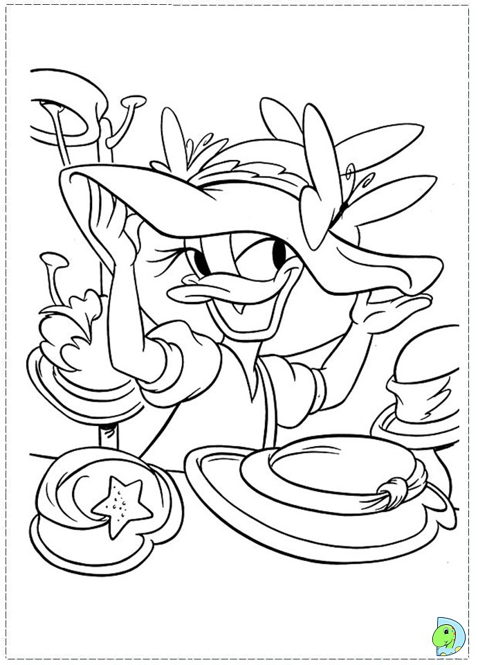 Daisy Duck Coloring Page DinoKidsorg