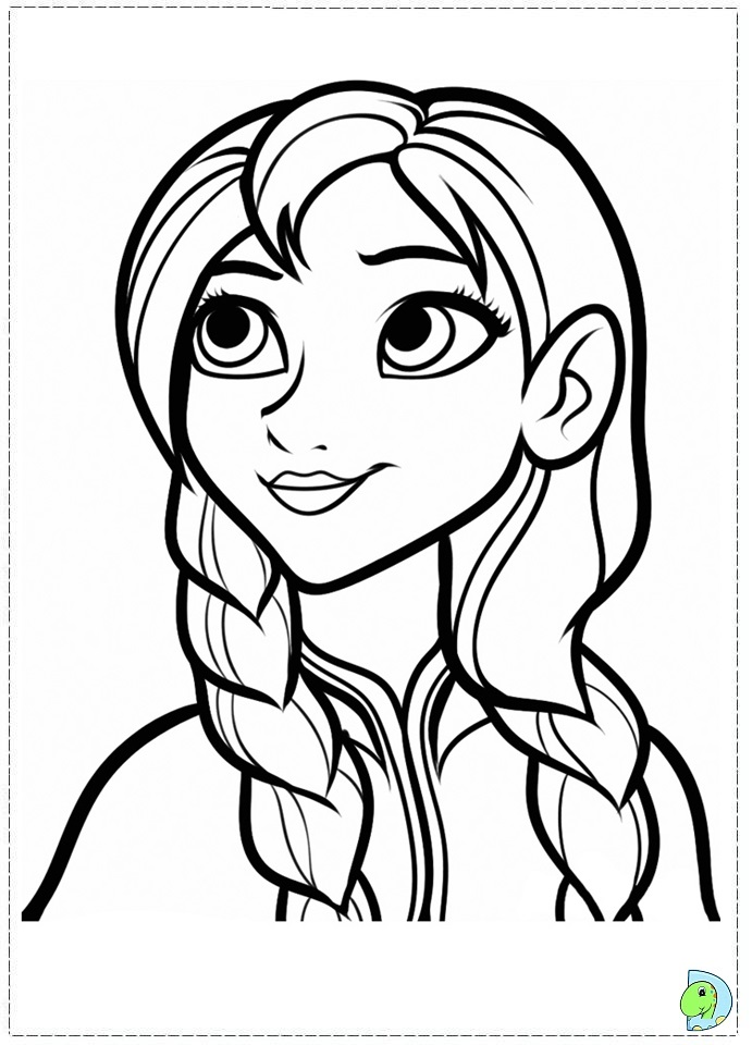 Frozen coloring pages, Disney\'s Frozen coloring page - DinoKids.org