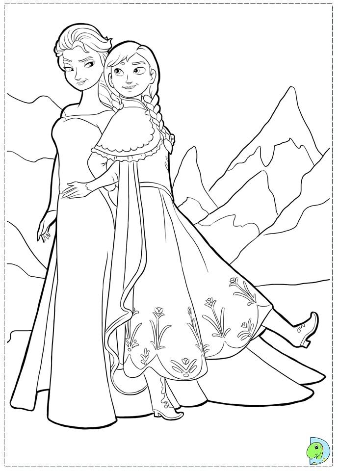 frozen disney princess coloring pages