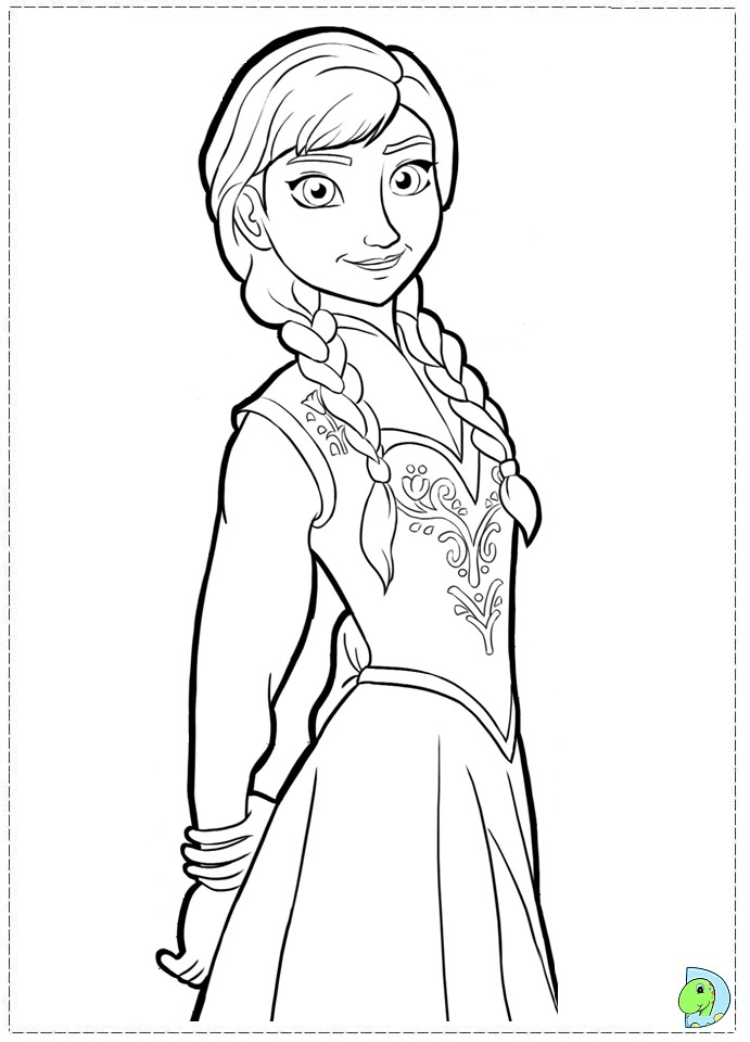 Free Coloring Pages Of Frozen Anna