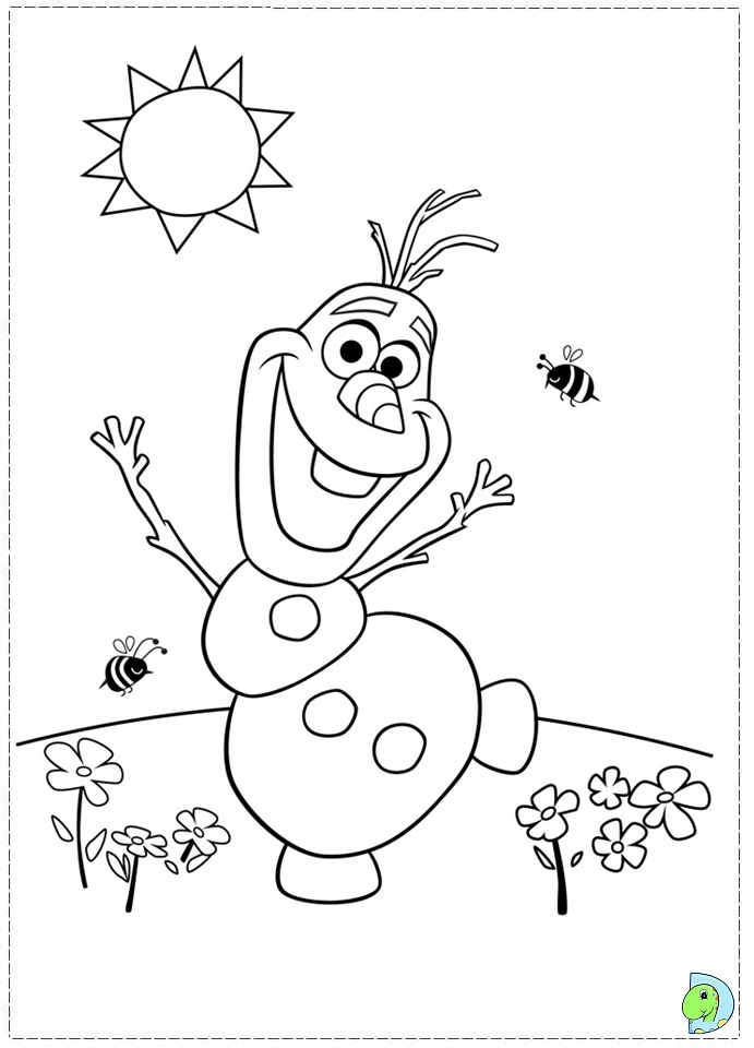 Free Frozen Colour Me In Coloring Pages