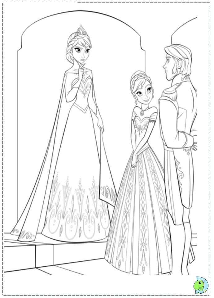 Free Disney Pictures Frozen Coloring Pages