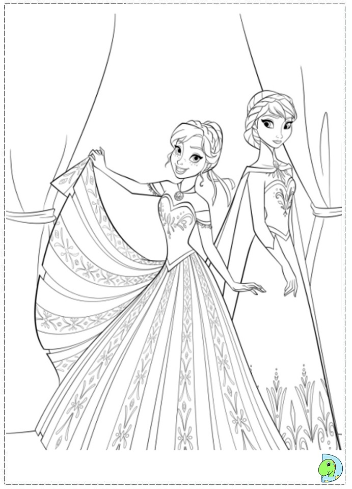 coloring pages disney frozen