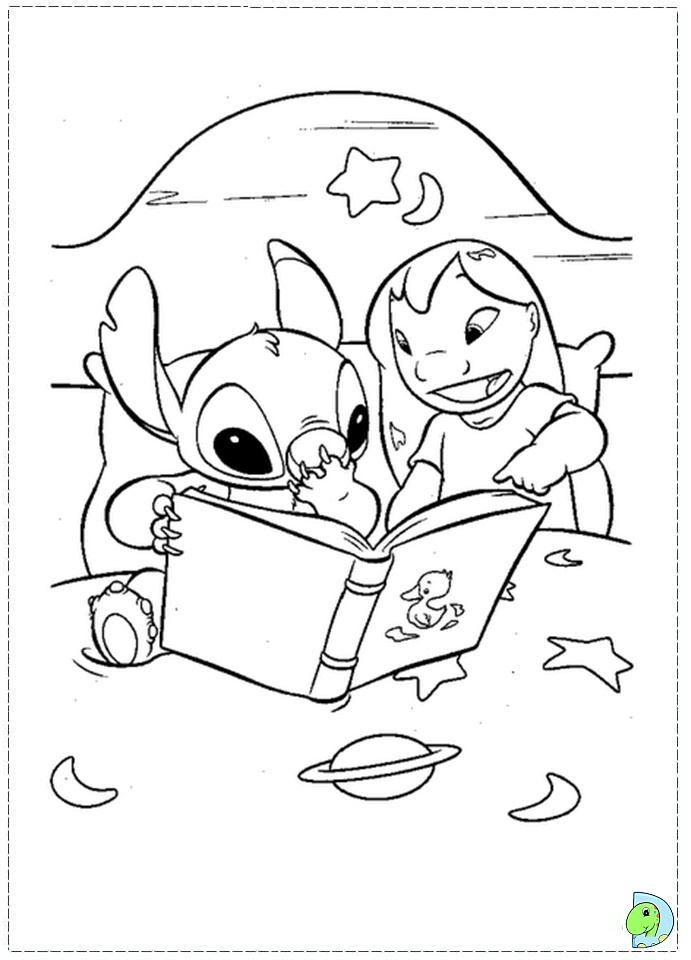 Lilo and Stitch coloring page- DinoKids.org