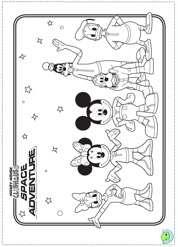 Mickey Mouse Clubhouse Coloring Page DinoKidsorg