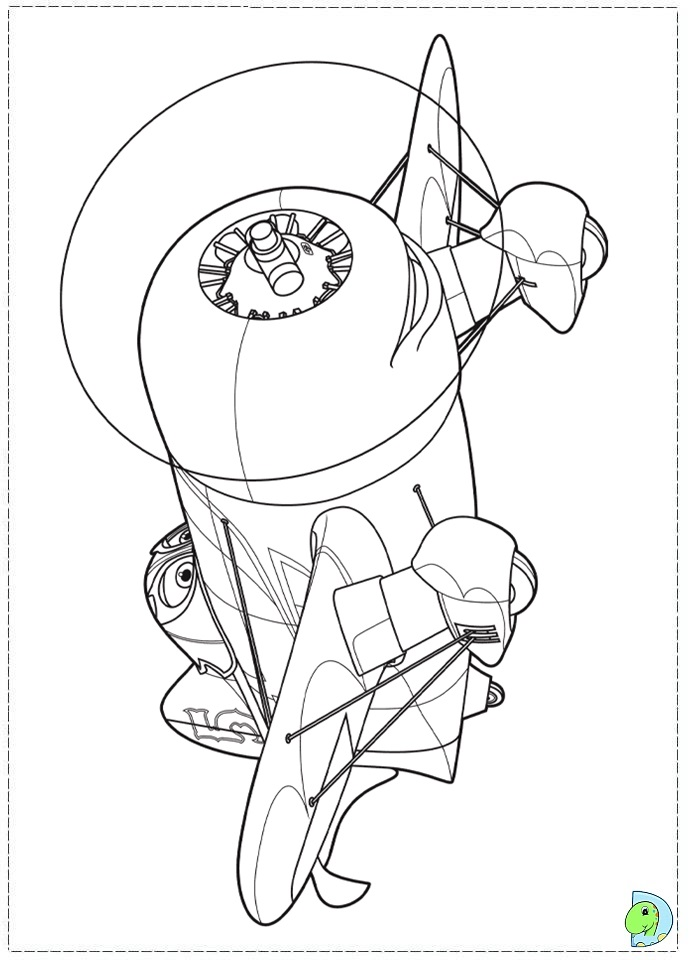 Free Coloring Pages Of Planes Skipper