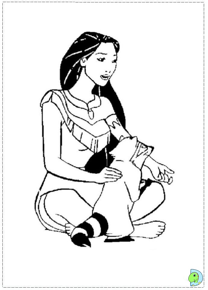 Pocahontas And Nakoma Coloring Pages