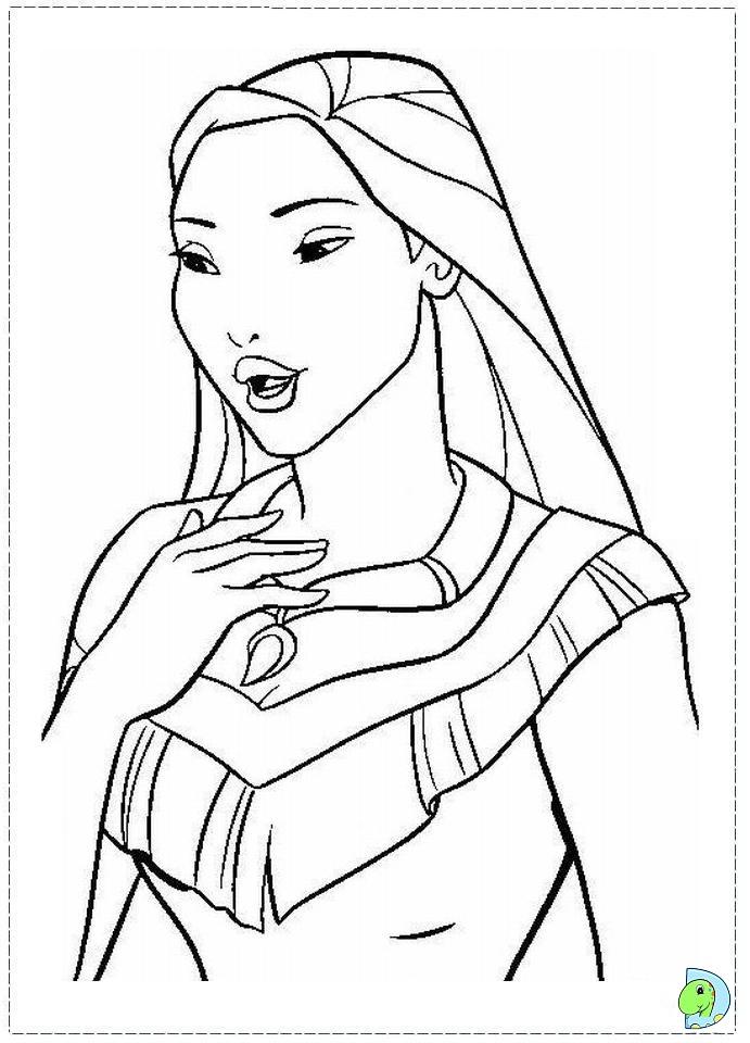 Pocahontas Coloring page DinoKidsorg