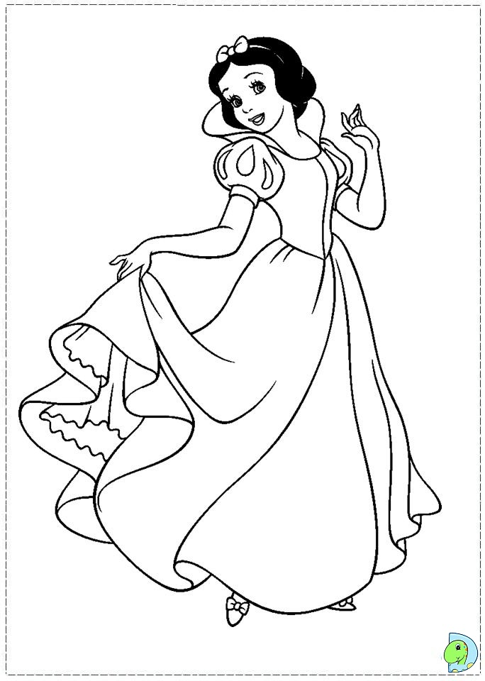 Snow White Coloring Page Dinokids Org Snow White Coloring Pages