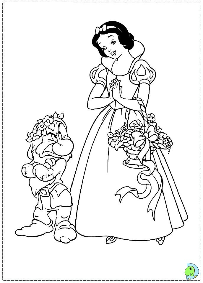 snow white witch coloring pages - photo#23