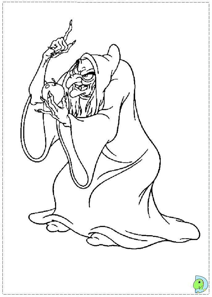 snow white witch coloring pages - photo#5