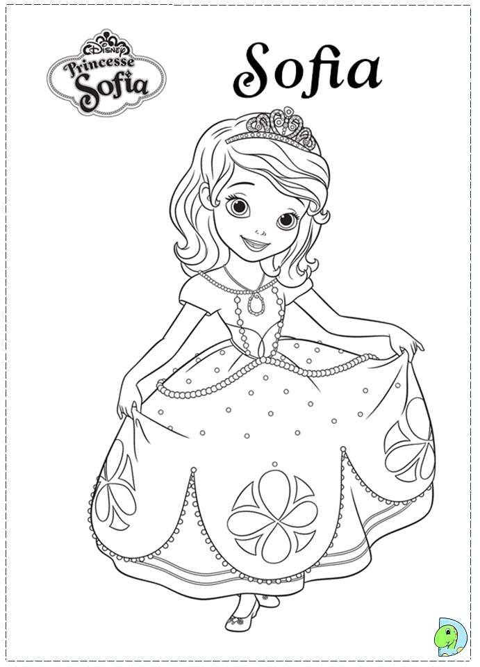 Terrible image with regard to sofia the first printable coloring pages