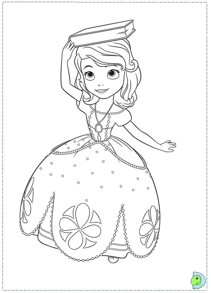 disney sofia coloring pages-#14