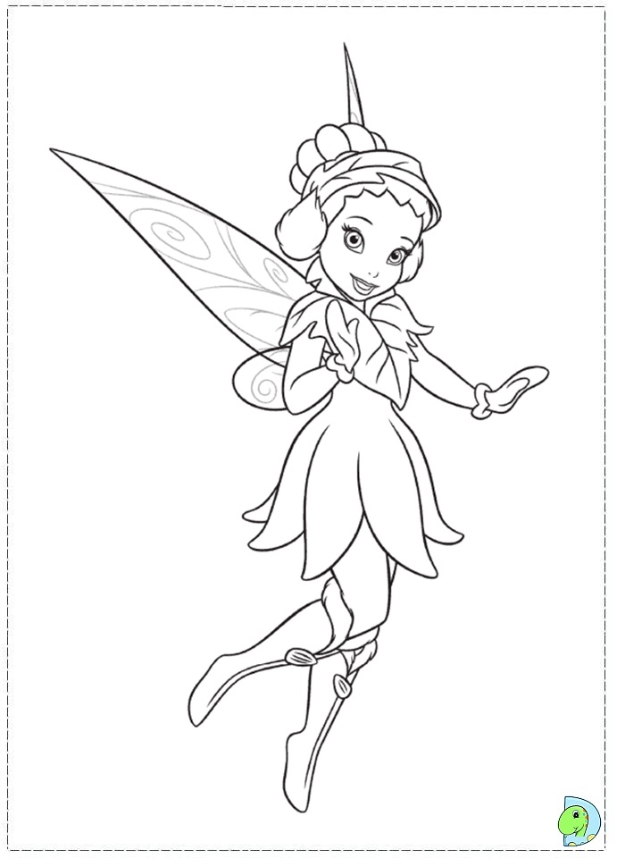 Tinkerbell In The Secret Of The Wings Coloring Pages