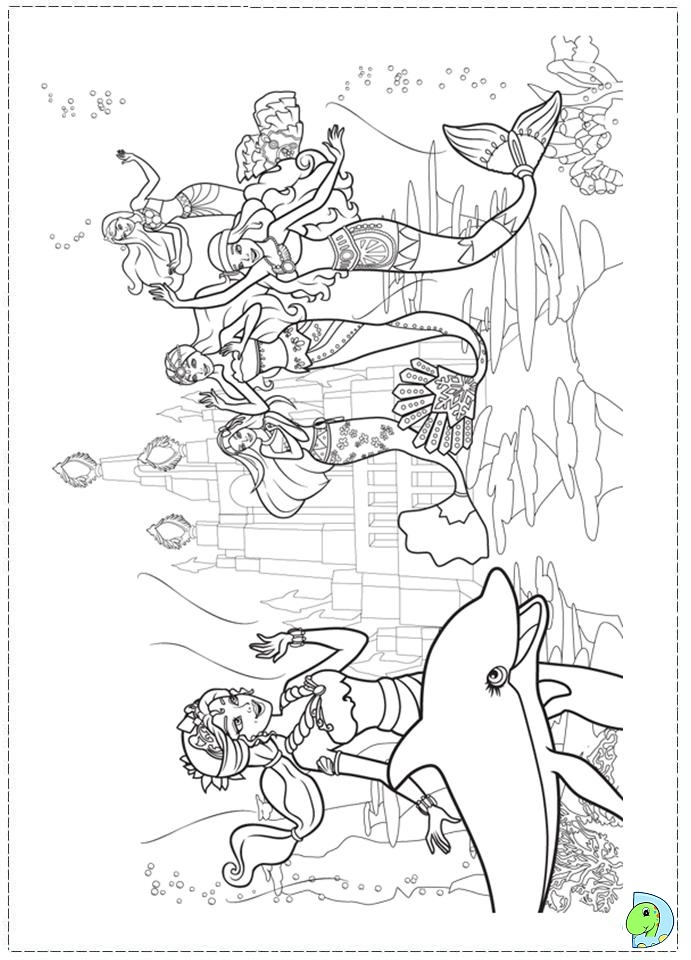 Barbie Mermaid Coloring Pages Sketch