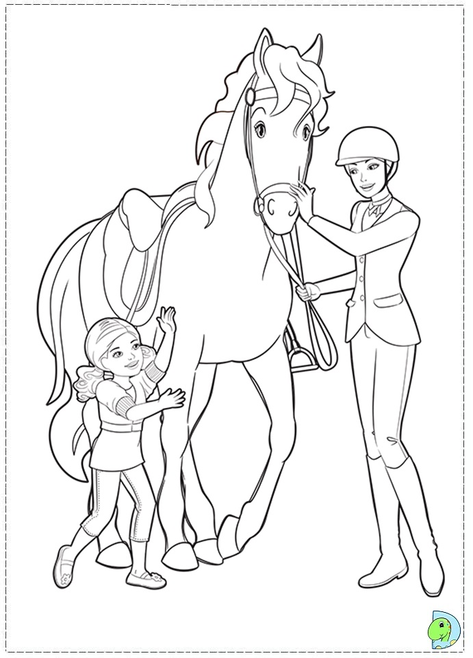 Barbie And Sisters Coloring Pages Her In A