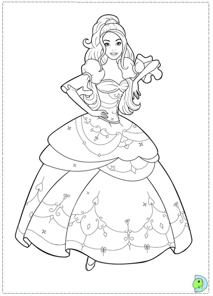Barbie Coloring page DinoKids