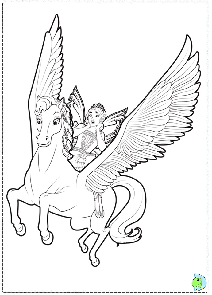 Free Coloring Pages Of Barbie The Secret Door