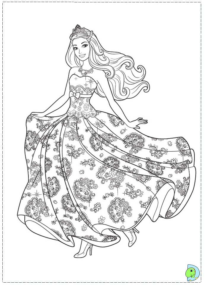Barbie The Princess And The Popstar Coloring Page Dinokids Org