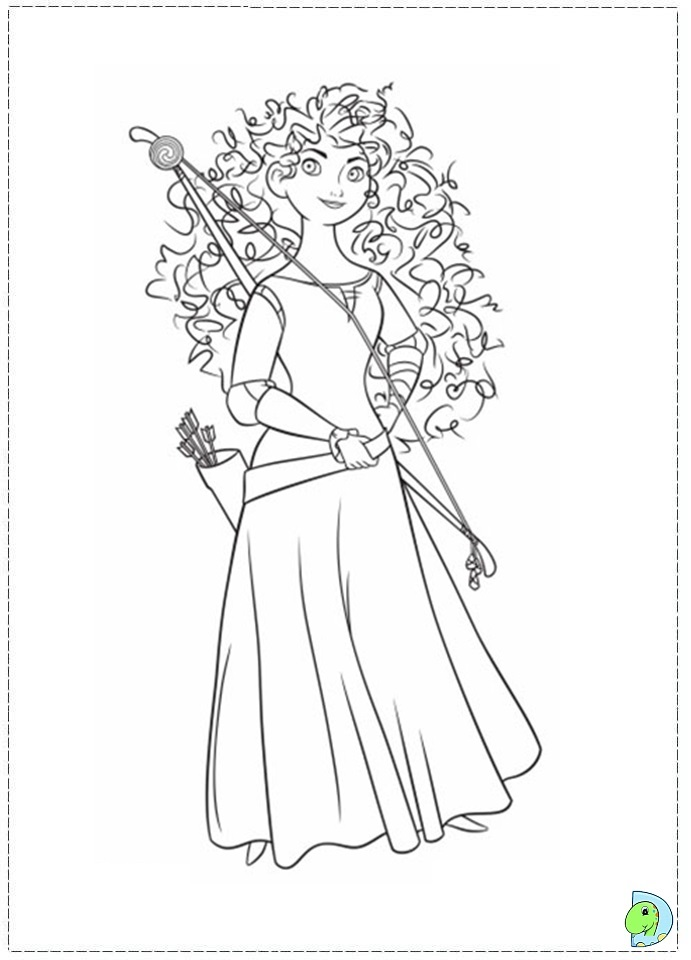 Search Results For Coloring Page Merida Black Brave Coloring Page