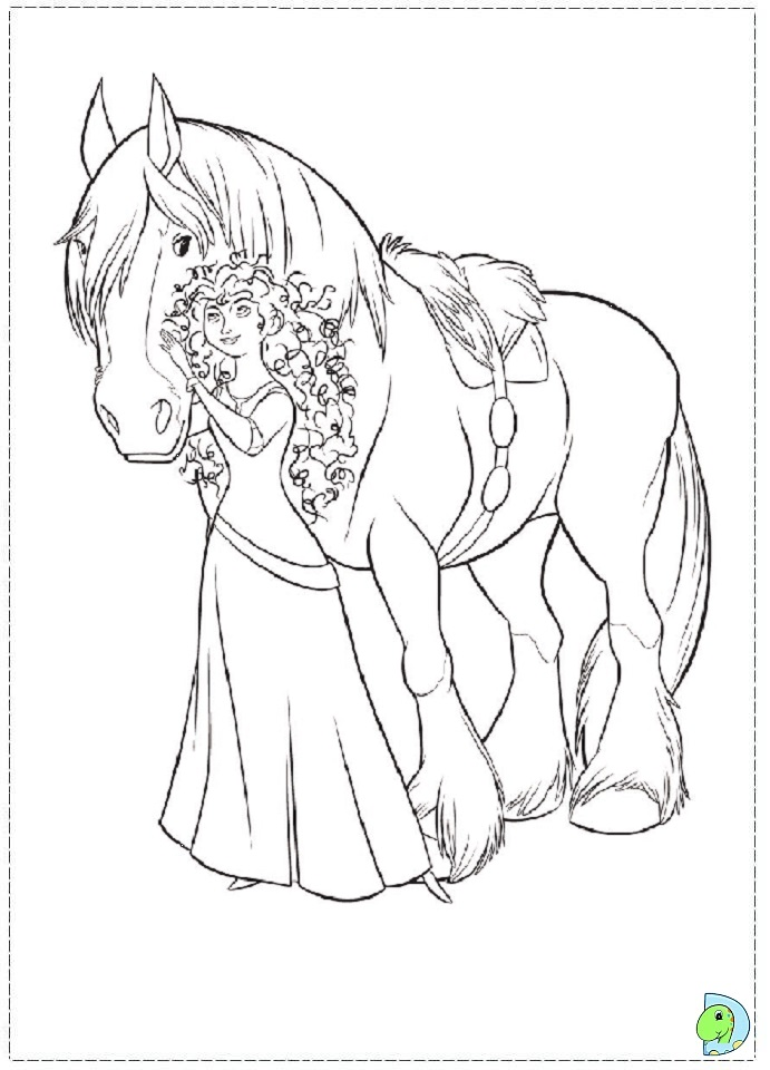 004 Coloring Brave 17 on princess trixie
