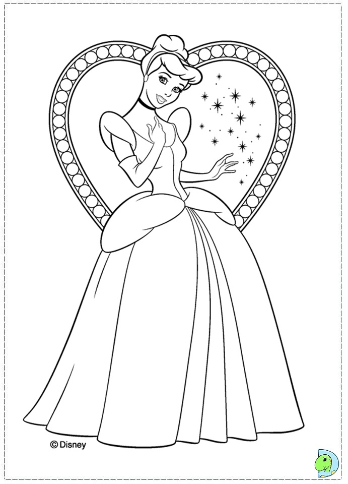 Cinderella Coloring Page DinoKidsorg