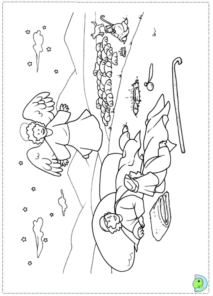 Free Angel With Trumpet Coloring Pages
