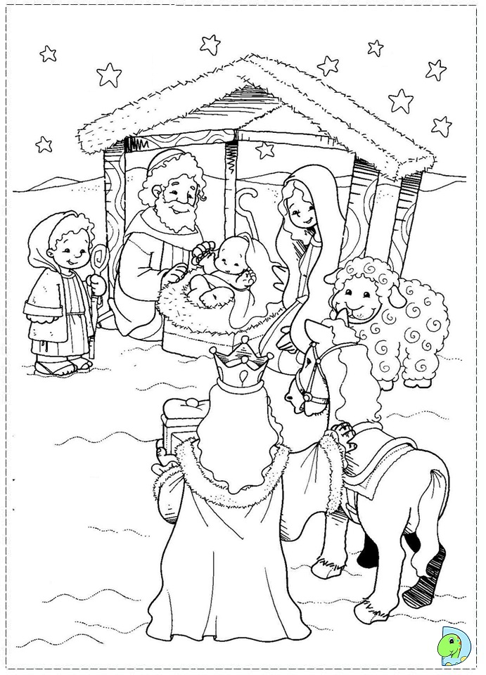 Precious moments coloring pages manger coloring pages for Precious moments nativity coloring pages