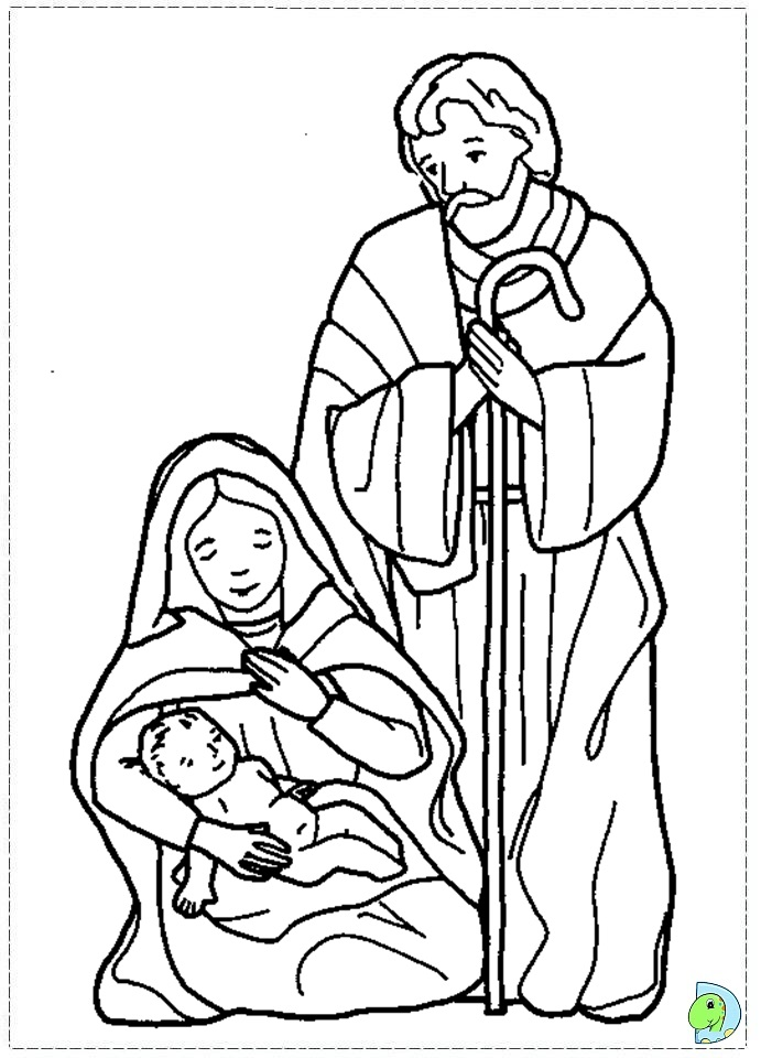 Nativity coloring page for Nativity scene coloring pages preschoolers