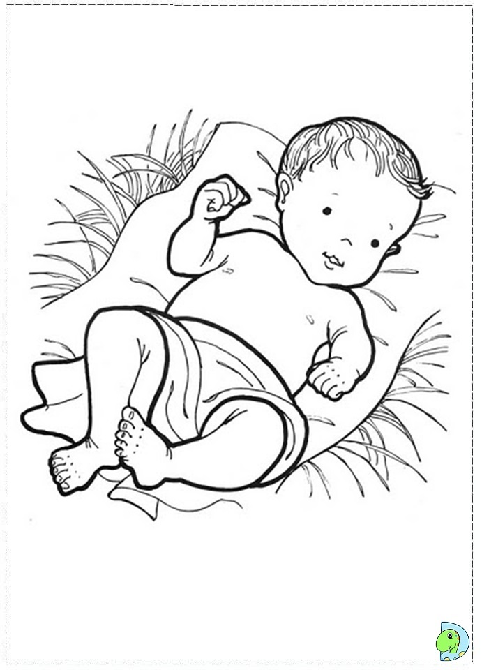 Nativity Coloring Page DinoKidsorg
