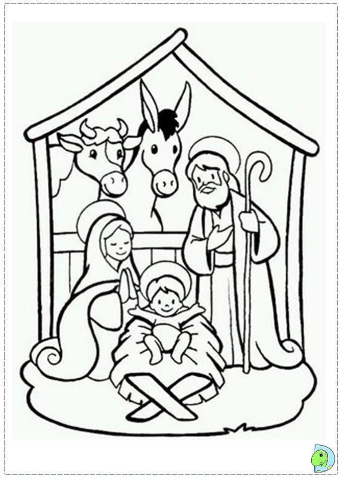 nativity scene coloring book pages - photo#20