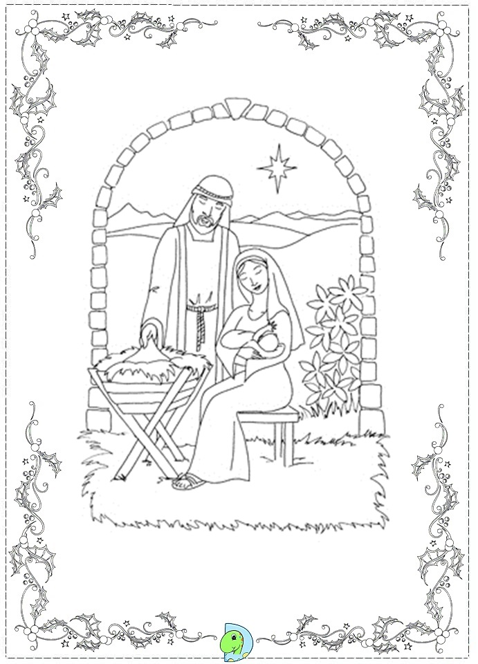 New 10 printable nativity coloring pages theclipartwizard for Nativity animals coloring pages