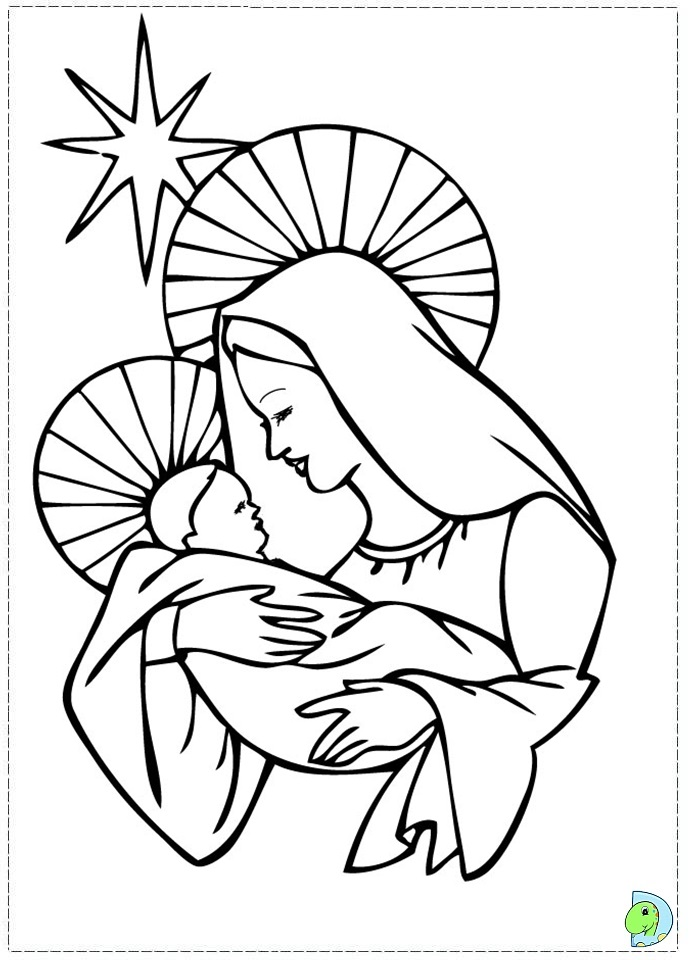 Nativity Scene Coloring Pages Printable