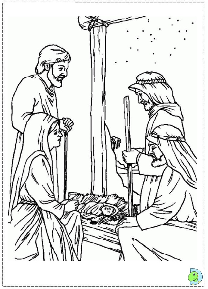 The nativity colouring pages