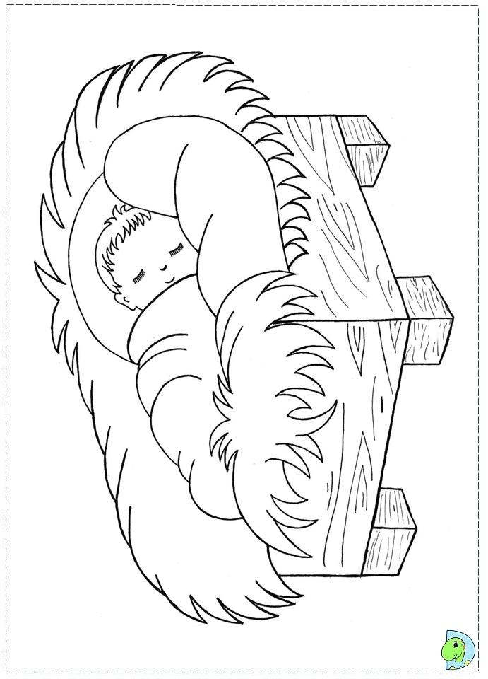 Free Coloring Pages Of Kings In Manger Manger Coloring Pages