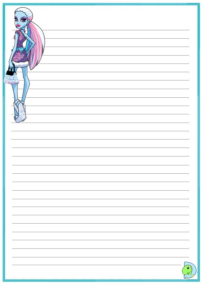 Monster writing paper
