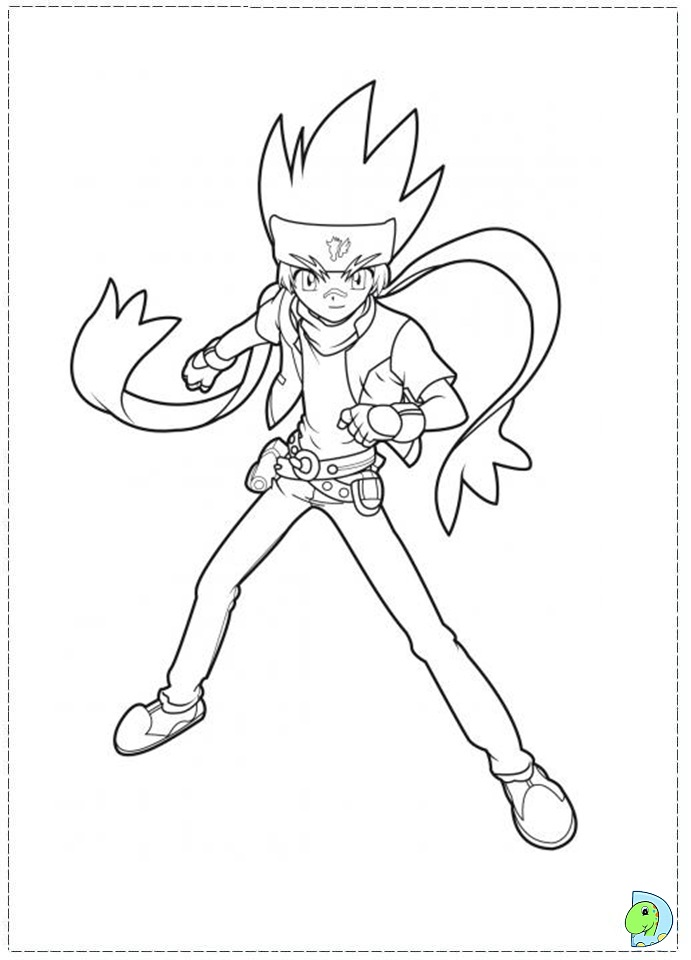 ginga beyblade coloring pages - photo#8