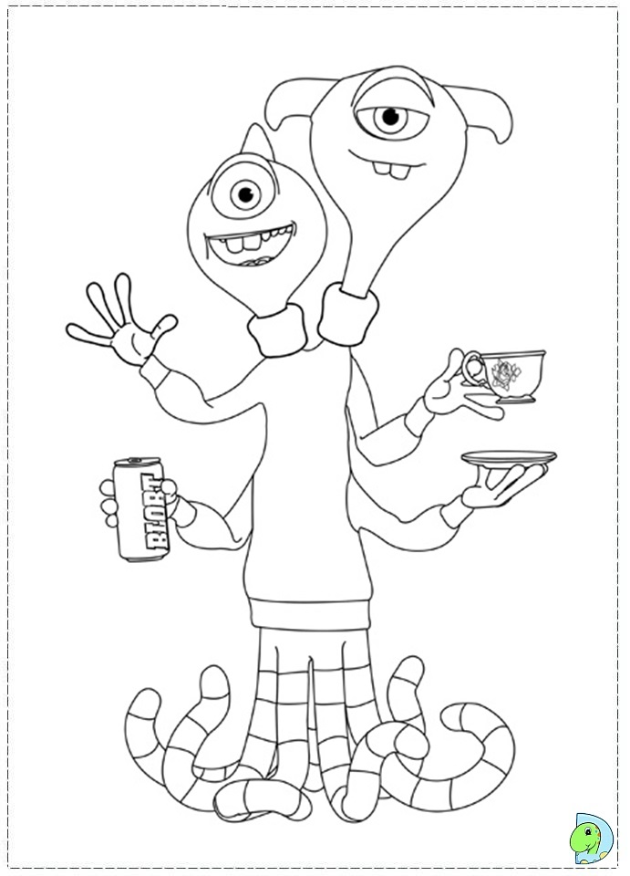 26 Monsters University Coloring page  DinoKids.org